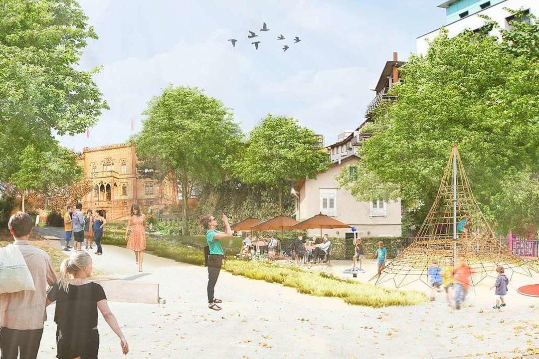 So ähnlich wie in dieser Visualisierun...tteckring/Rosastraße künftig aussehen.  | Foto: Stadt Freiburg