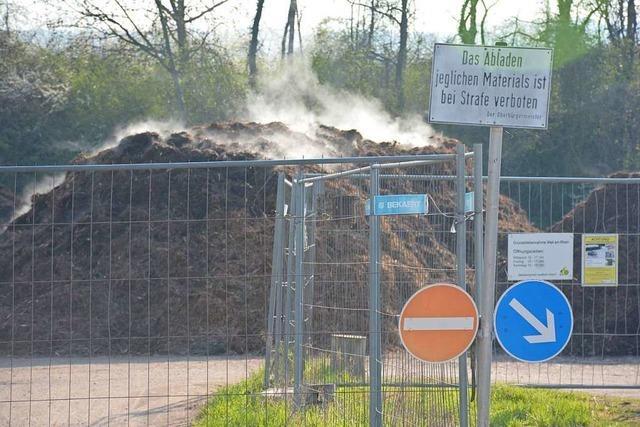 Fasnachtsfeuer als Ersatz für die Haltinger Grünschnittsammelstelle