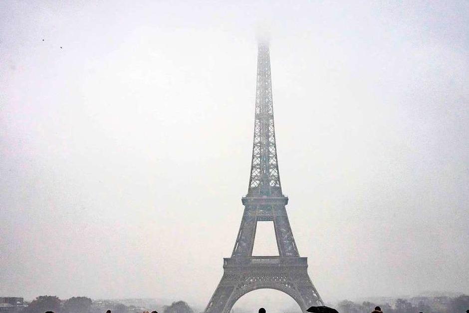 Winterliches Wetter in der französischen Hauptstadt. (Foto: AFP)
