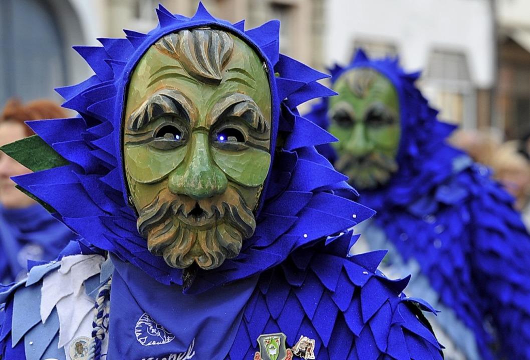 Das Häs in Blautönen: Brettenbachgeister aus dem Elztal    Foto: Andrea Schiffner