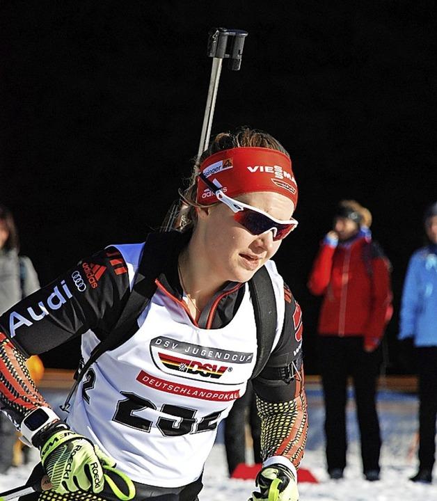 Leidenschaftliche Biathletin: Annika Knoll  | Foto: jürgen ruoff