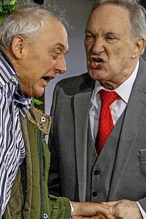 Schenken sich nichts: Klaus Raith und Bernd Geiger   | Foto: A. Albiker