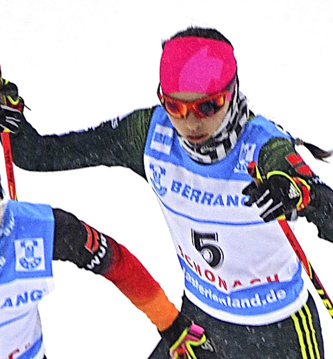 Laufstark: Anna Jäkle, 15-jährige  Kombiniererin aus Schonach  | Foto: Helmut Junkel
