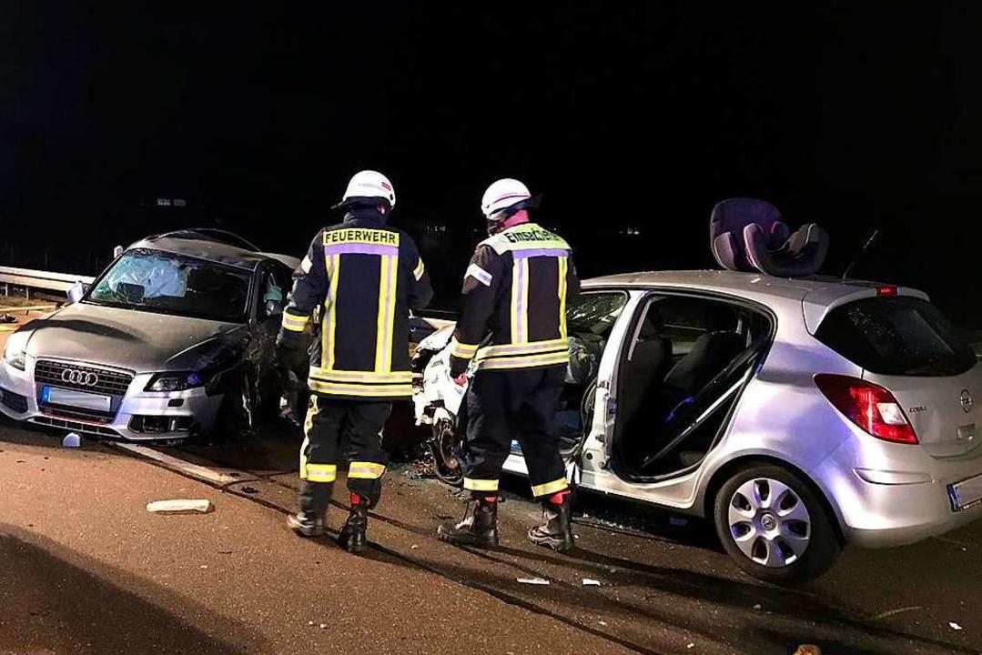 Im Feierabendverkehr kam es zu einem Unfall auf der B3.  | Foto: DRK Vörstetten