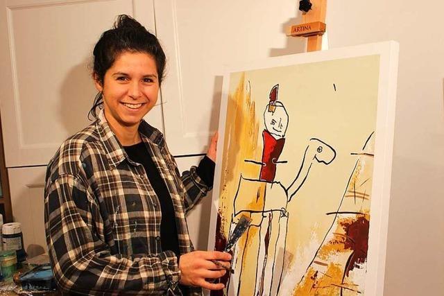 Rheinfelderin macht aus Kinderbildern Kunst und spendet einen Teil der Einnahmen