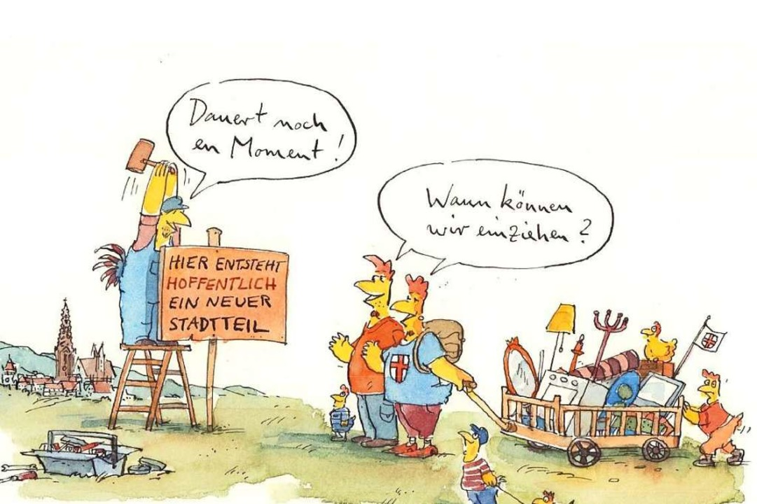 Der Karikaturist Peter Gaymann zeichnete für Dietenbach.  | Foto: Privat