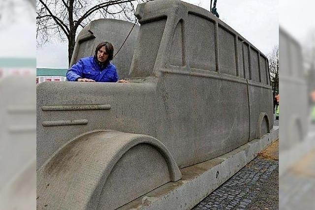 Das reisende Denkmal erinnert an die Opfer der Euthanasie