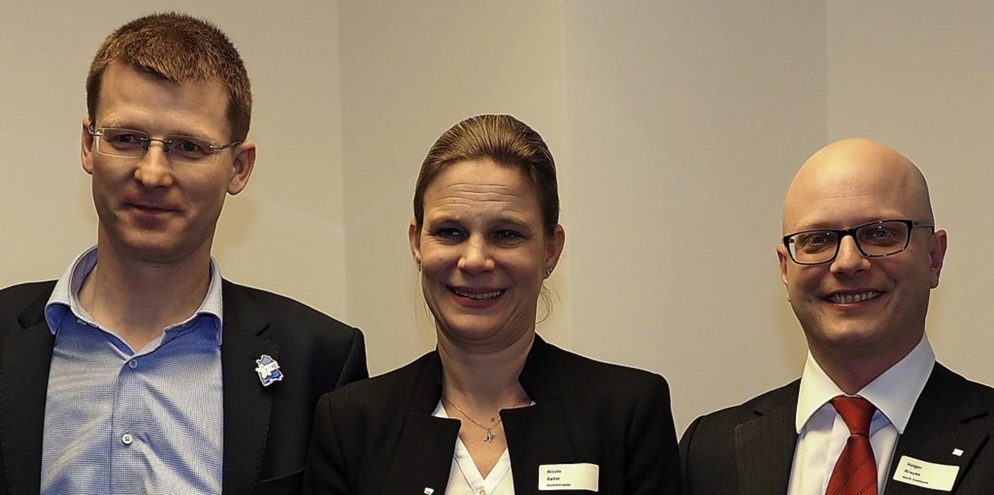 Erstmals gab es bei den Wirtschaftsjun...eut Matthias Handt vom Landesverband.   | Foto: Hans Christof Wagner