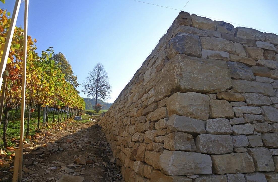 Oberhalb von Britzingen entstanden in ...ten ökologisch wertvolle Trockenmauern  | Foto: R. Wermuth