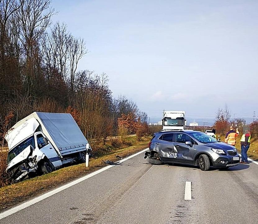 Bild vom Unfall in der Schweiz   | Foto: Kantonspolizei