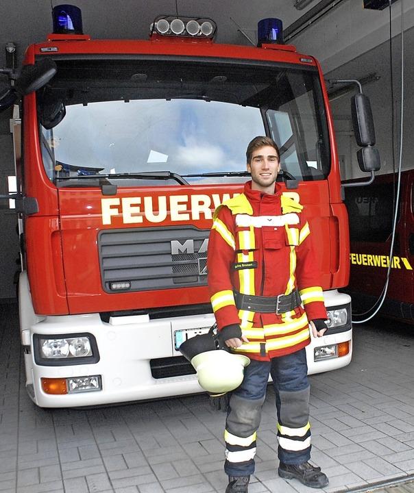 Maurice Grunert kam mit 13 Jahren zur Feuerwehr.   | Foto: Leony Stabla