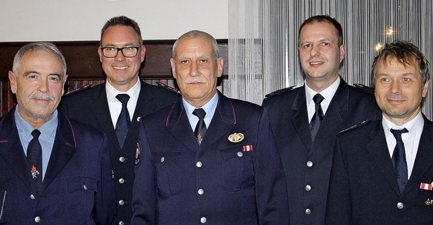 Ehrungen bei der Feuerwehrabteilung Kü...ant Jürgen Kopf und  Alexander Krämer   | Foto: Hans Spengler