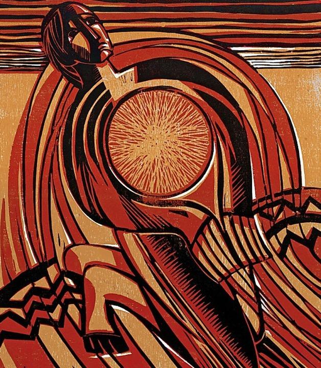 Ein Holzschnitt von Walter Eberhardt.     Foto: Reinhold Schäfer