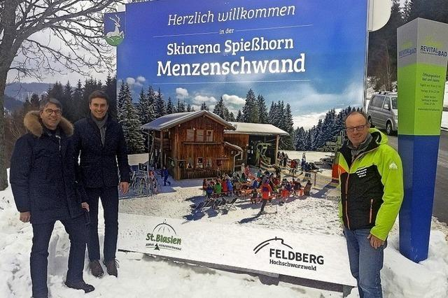 Werbung für die Skiarena