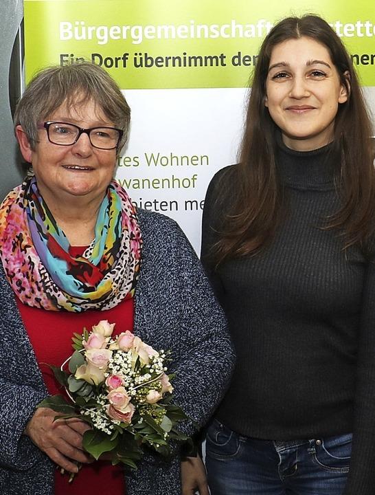 Rita Sprich (links) tritt ihren wohlve...achfolgerin ist Elisabeth Schweizer.      Foto: Christa Rinklin