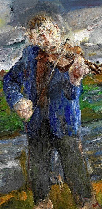 Violinenspieler von Bernhard Heisig, d...tuelle Kunst in Durbach zu sehen  ist.    Foto: VG-Bild, Bonn