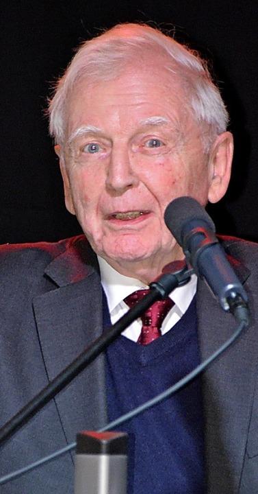 Nobelpreisträger Harald zur Hausen  | Foto: hrö