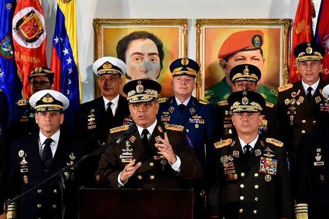 Noch genießt Staatschef Maduro die Unterstützung der Generäle