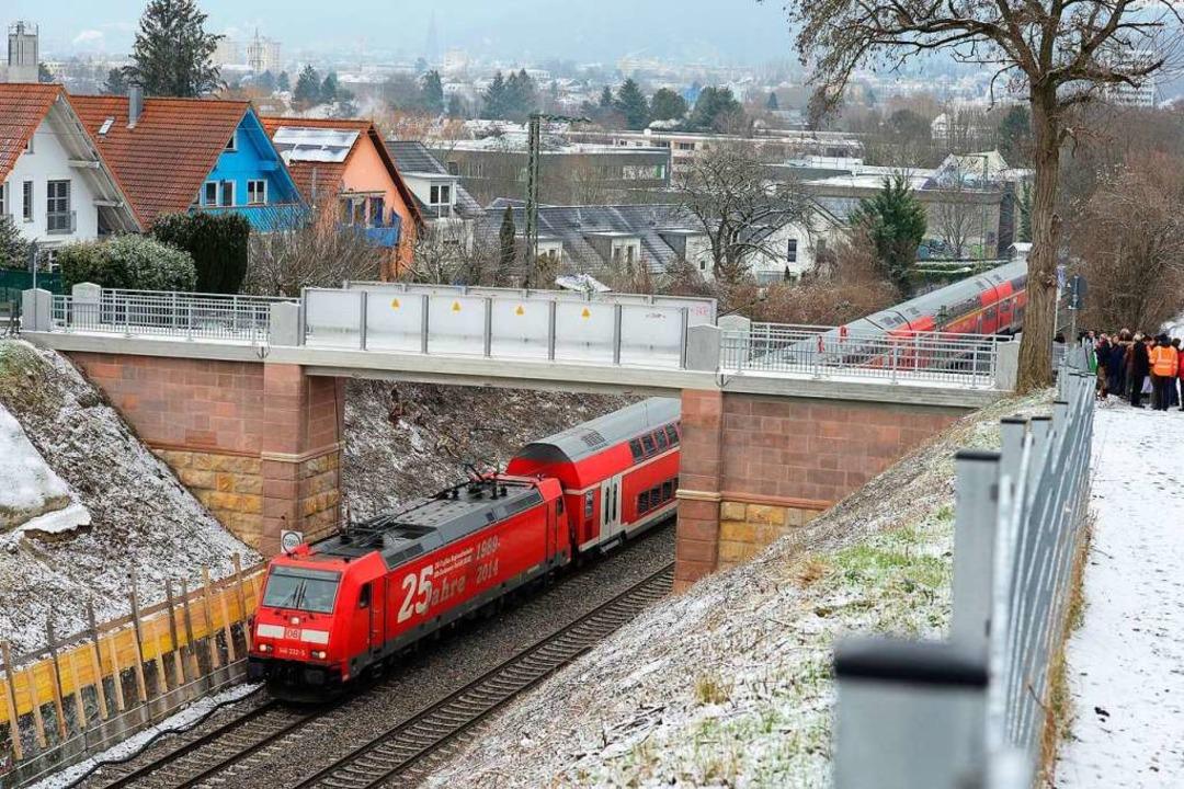 Teile der ursprünglichen Konstruktion ...n das neue Teufelsbrückle integriert.   | Foto: Ingo Schneider
