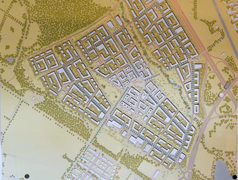 So könnte der neue Stadtteil aussehen:...en die Freiburgerinnen und Freiburger.  | Foto: Rita Eggstein