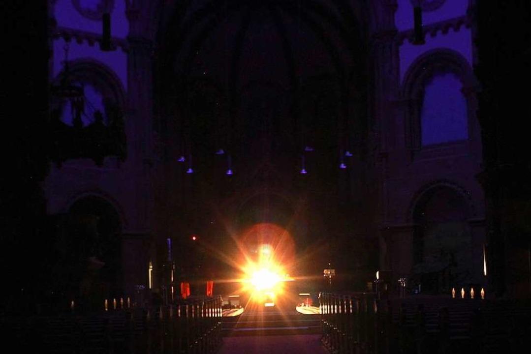 Klangregung: Die Installation in der Johanneskirche.  | Foto: Denim Szram
