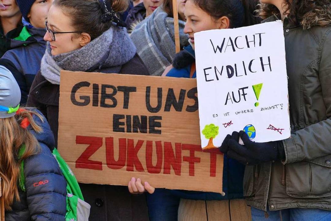 Schülerprotest in Offenburg  | Foto: Ralf Burgmaier