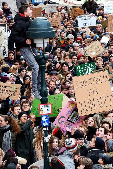 Schülerstreik in Freiburg  | Foto: Thomas Kunz