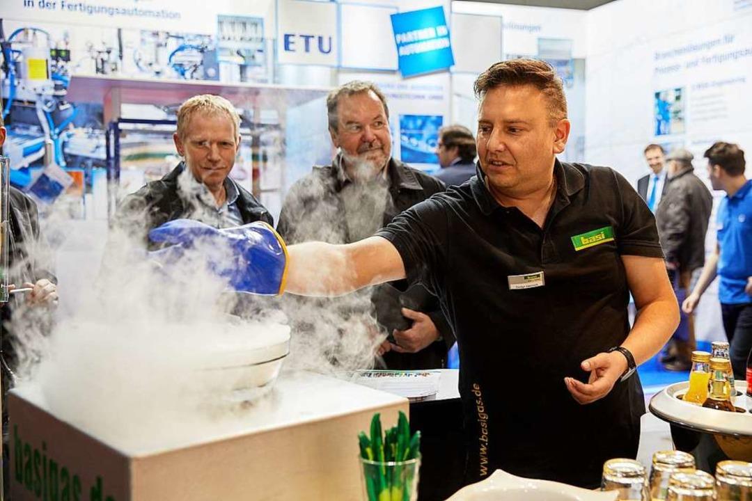 Bei der 19. Industriemesse IE in Freib...ie international als Vorreiter gelten.    Foto: WVIB