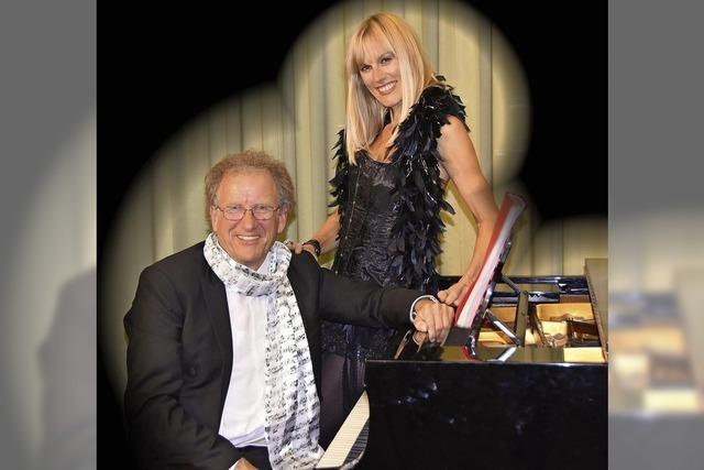 Christine Schmid und Florian Metz treten in der Bad Säckinger Villa Berberich auf