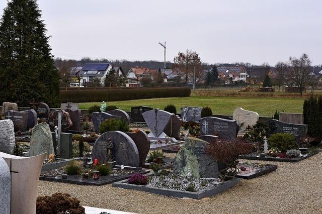 Bestattungshain für den Friedhof