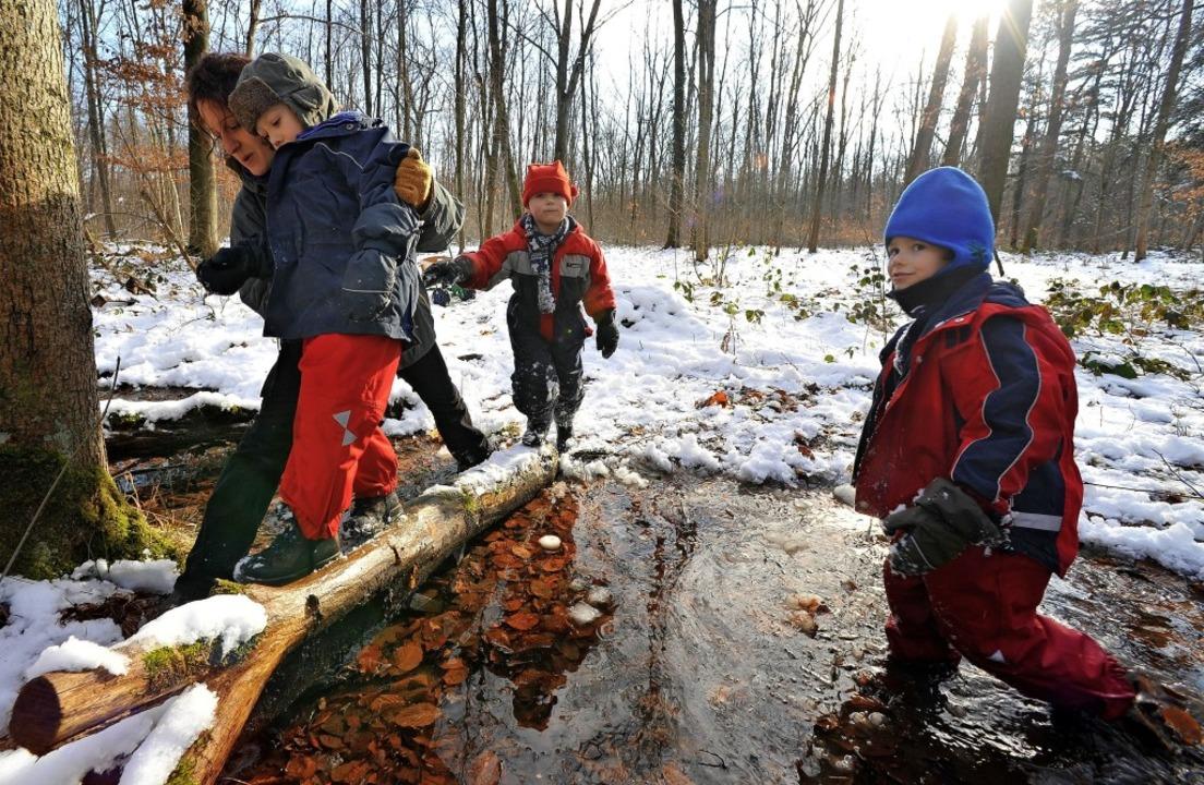 Naturkindergärten liegen im Trend. Bür...e Einrichtung in Breisach zu schaffen.    Foto: Michael Bamberger