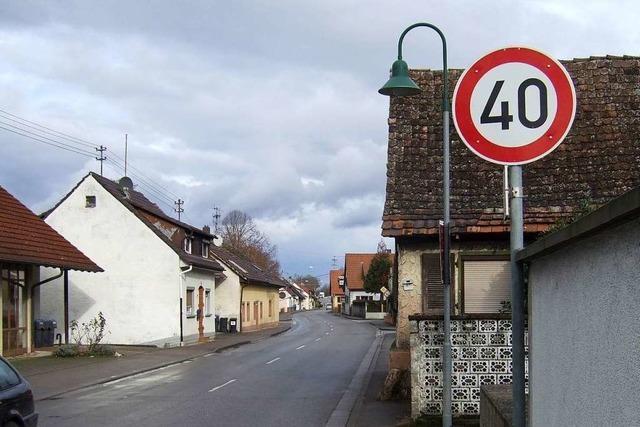 In Hartheim und Bremgarten gilt jetzt Tempo 40