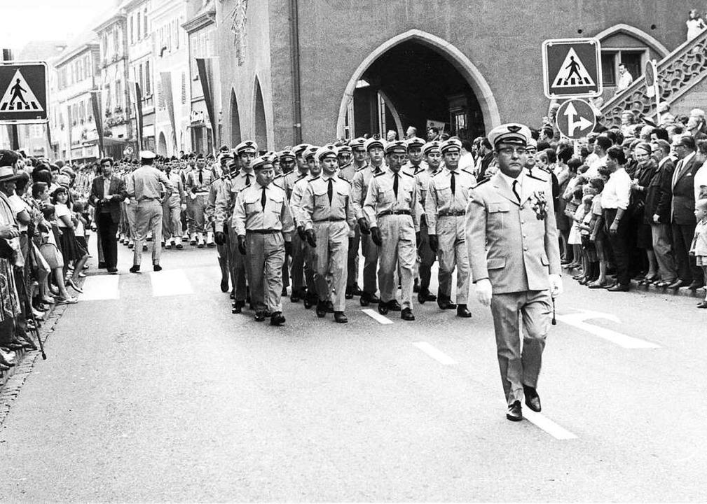 Die Abzugsparade der Franzosen  am 29. August 1967    Foto: Archiv Stadt Lahr