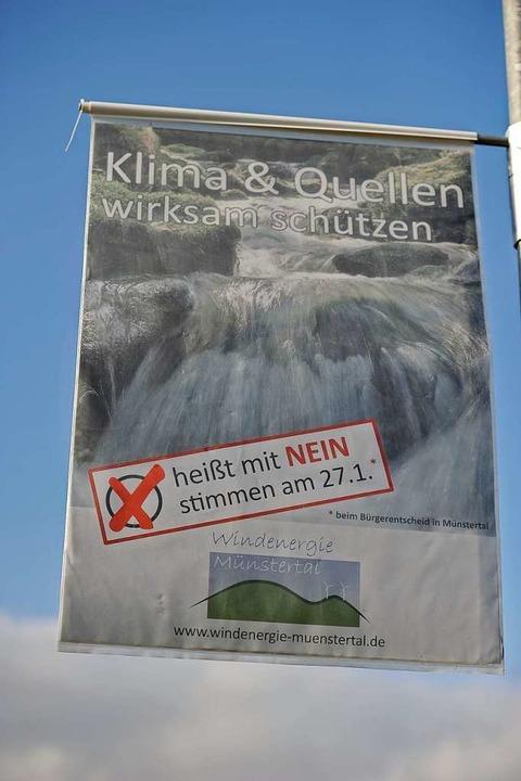 Die Windrad-Befürworter  behaupten, du... etwas zum  Schutz des Wassers zu tun.  | Foto: Hans-Peter Müller