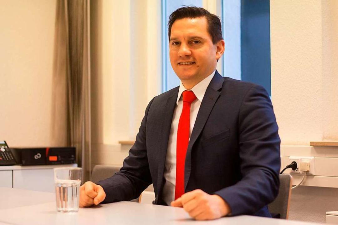 Johannes Fechner beim Besuch in der BZ-Redaktion  | Foto: Patrik Müller