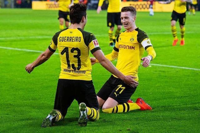 Borussia Dortmund gewinnt 5:1 gegen Hannover 96