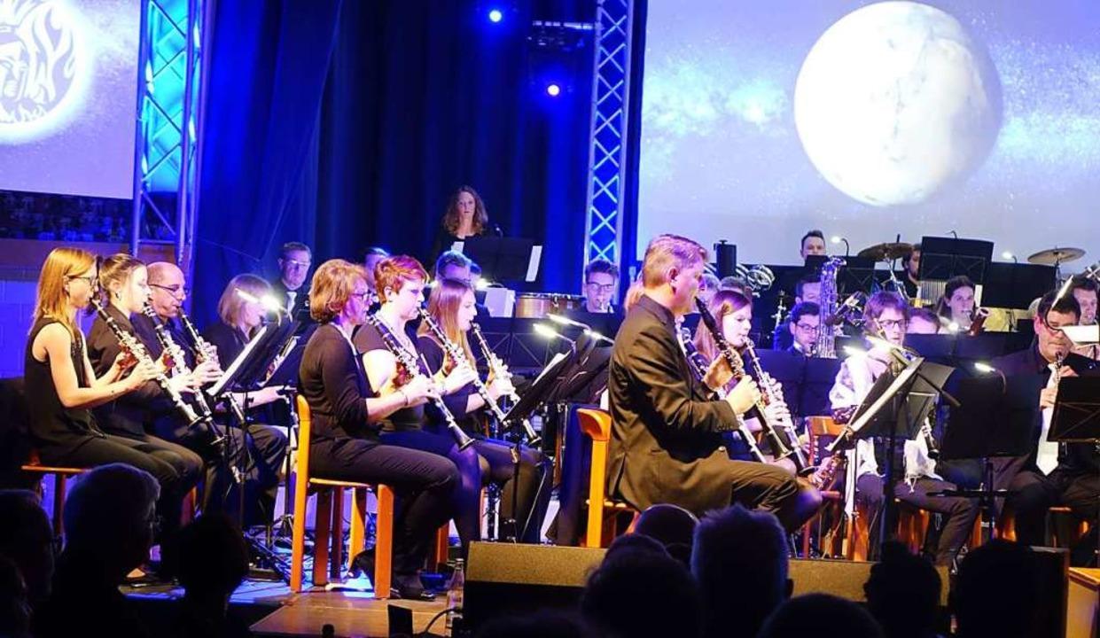 Imposant war nicht nur der Auftritt de...Wollbacher Musiker sich präsentierten.  | Foto: Roswitha Frey