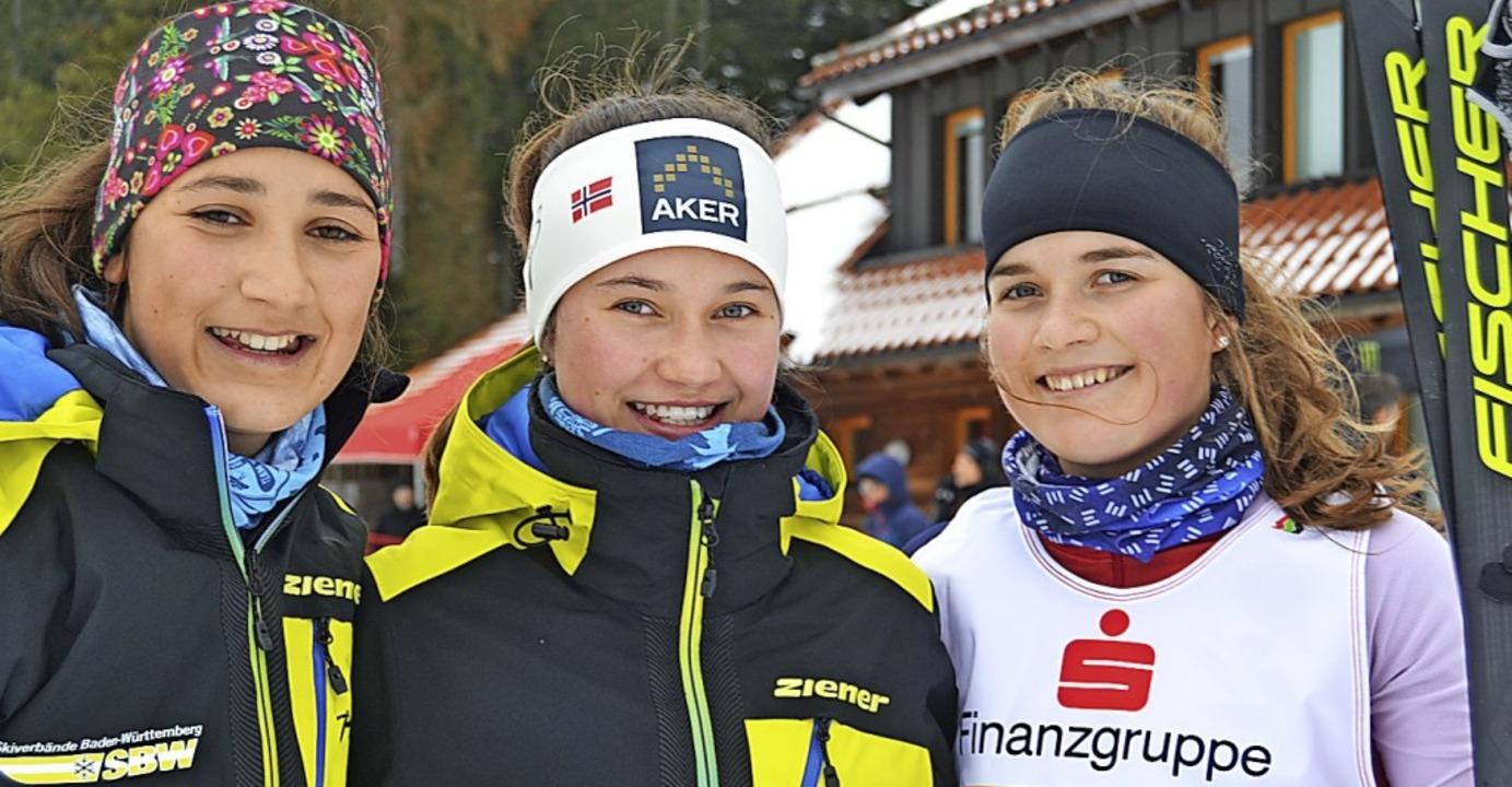 Schwarzwaldmeisterinnen: Die Mädchen-S...h, Dana Horngacher und Janna Klimpel.   | Foto: junkel