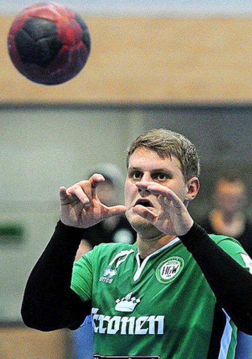 Luca Barbon (Foto) und Steffen Stocker bildeten einen starken Mittelblock.   | Foto:  Pressebüro Schaller