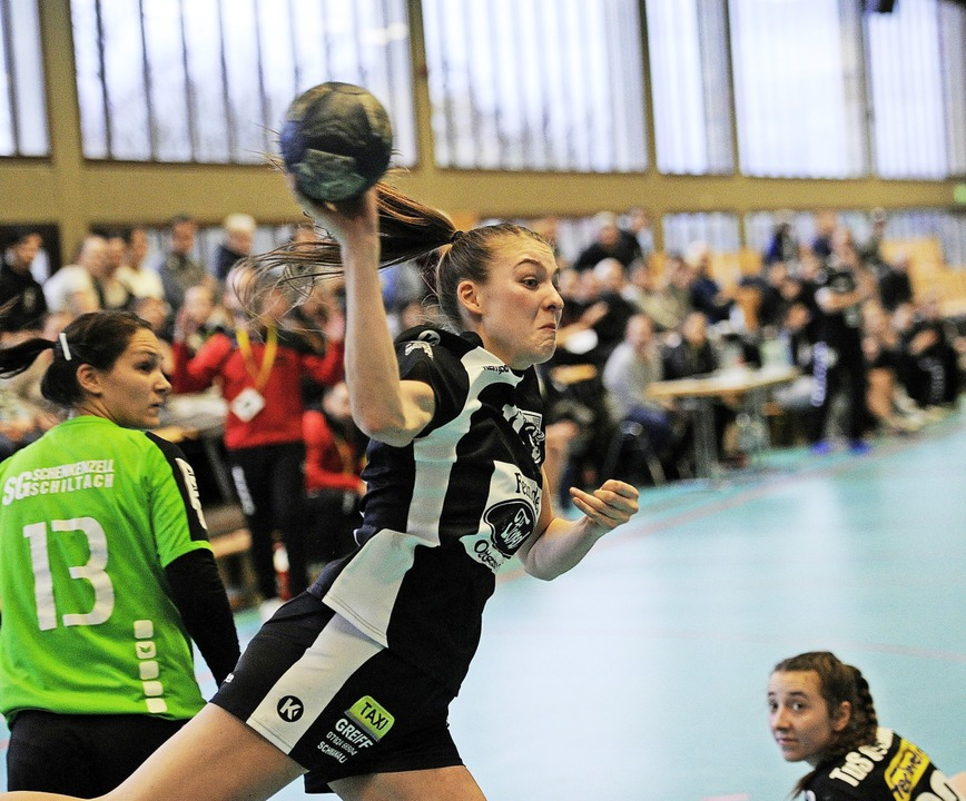 Laura Karl erzielte drei Treffer für den TuS Ottenheim.   | Foto:  Pressebüro Schaller