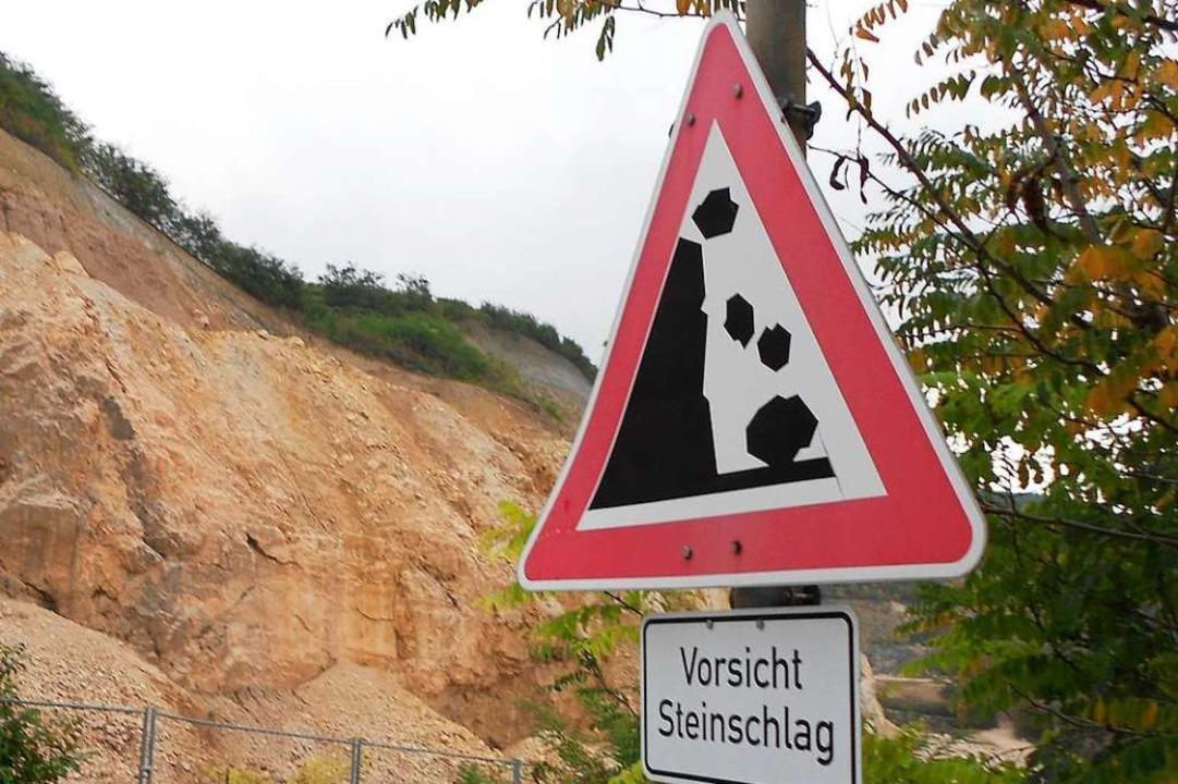 Von herabfallenden Steinen wurde am So...ischen Maulburg und Minseln getroffen.  | Foto: langelott