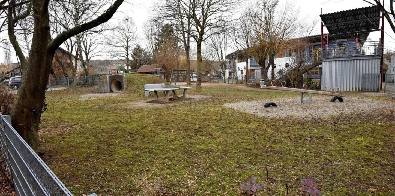 Für den öffentlichen Spielplatz gleich... Kinderkrippen und Kindergartengruppen    Foto: Markus Zimmermann