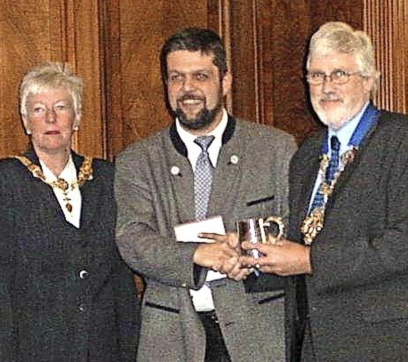 Lernten sich im Jahr 2003  im Rahmen d... Preston mit seiner Stellvertreterin.     Foto: Klaus Morath