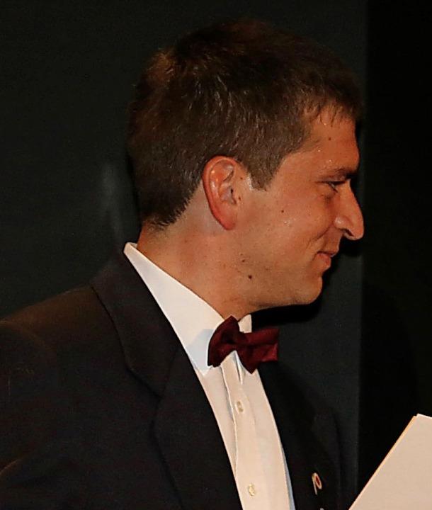Neue Ehrenmitglieder der Stadtmusik Ba...reichte Ehrenpräsident Günther Nufer.     Foto: Stadtmusik