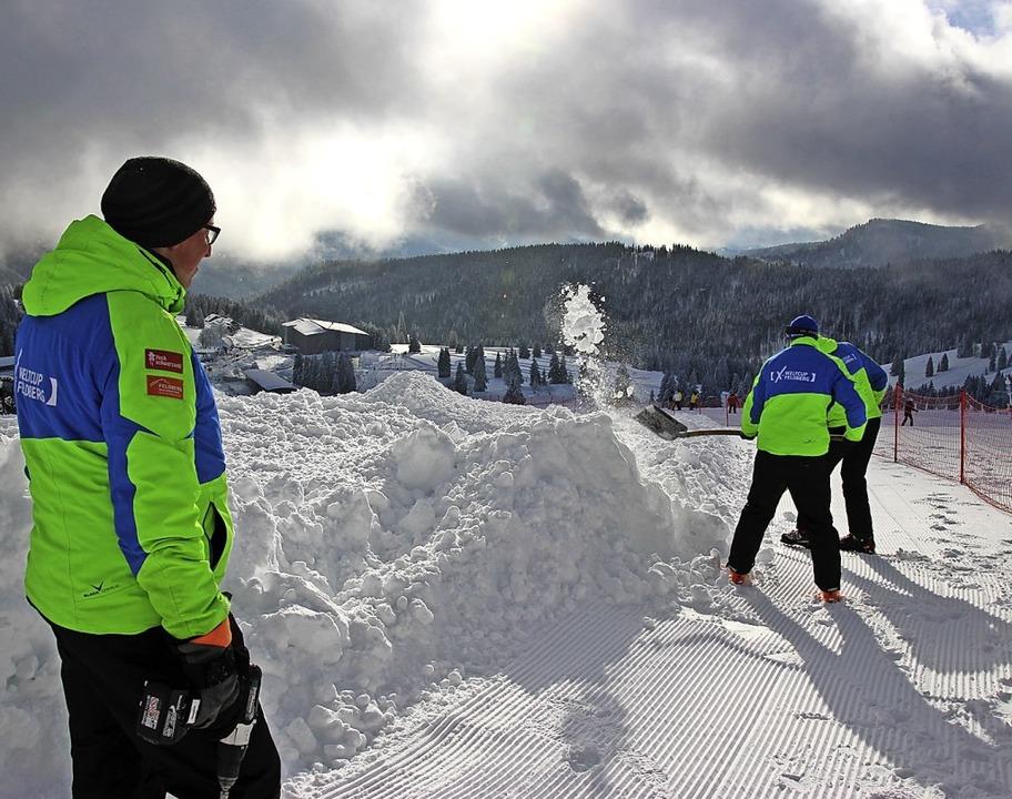Der Kursbau für die Weltcuprennen im Februar hat begonnen.     Foto: HTG