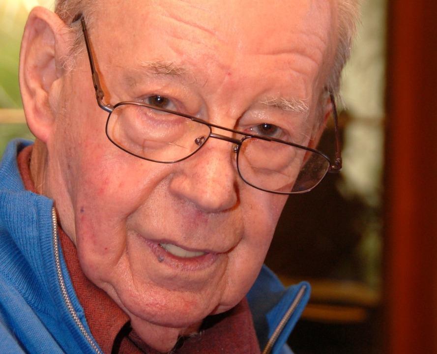Roland Meier  beim 85. Geburtstag  2013     Foto: W. Beck
