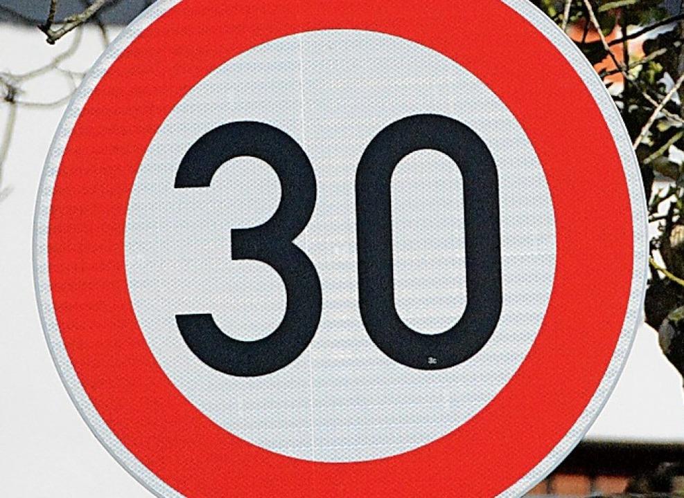 Tempo 30-Schild   | Foto: Lauber