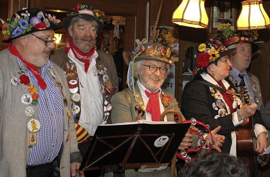 Die Donaueschinger Stadtstreich(l)er g...hollach und begeisterten die Zuhörer.     Foto: Gert Brichta