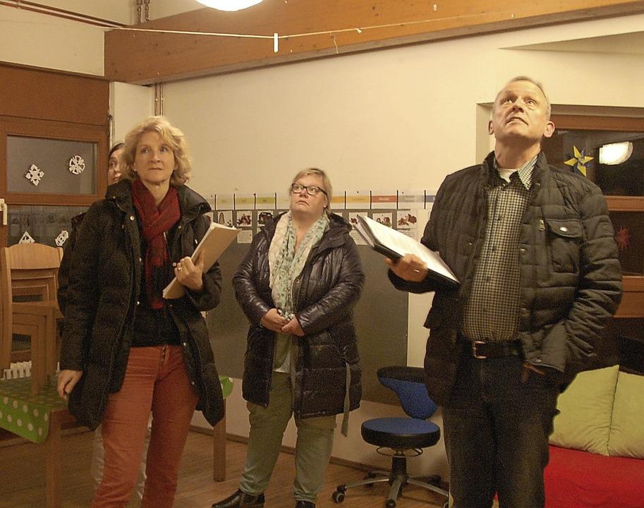 Architekt Rolf Bühler (rechts) hat auf...gung  ein Maßnahmenpaket entwickelt.      Foto: Frey