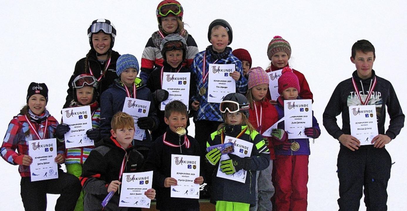 Siegerehrung der alpinen Rennen beim Kinderskifest in Ibach  | Foto: Verein